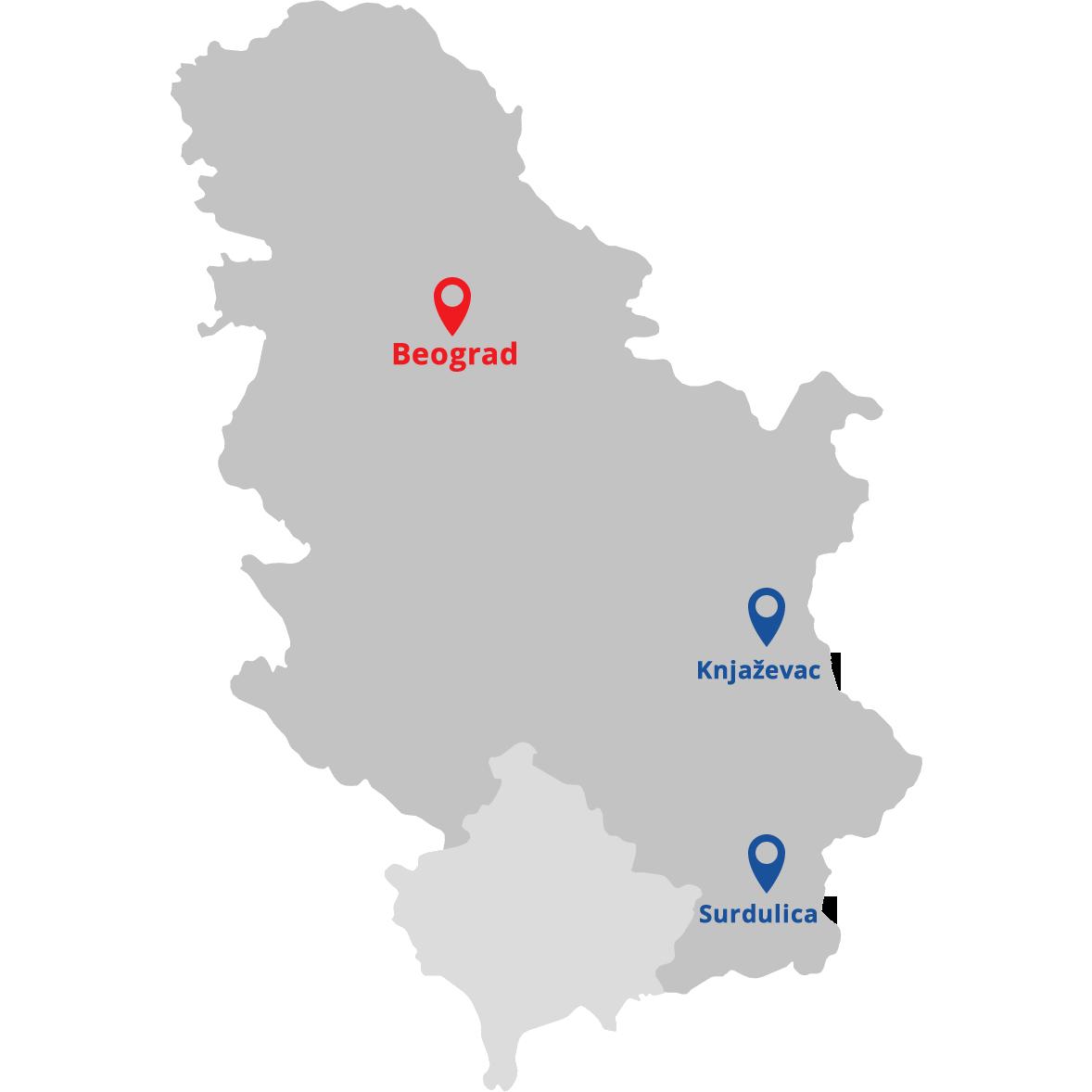 knjazevac mapa srbije Putujte s nama   BS Tours knjazevac mapa srbije